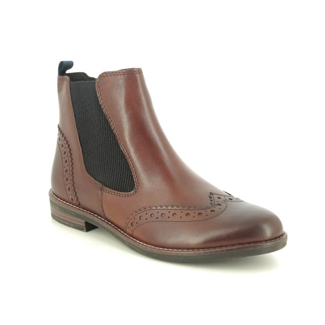 Marco Tozzi Chelsea Boots - Tan Leather - 25365/35/340 RAPABRO