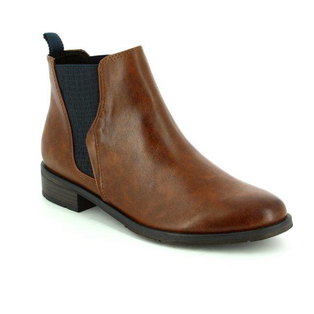 Marco Tozzi Chelsea Boots - Cognac tan - 25040/372 RAPALL CHELSEA