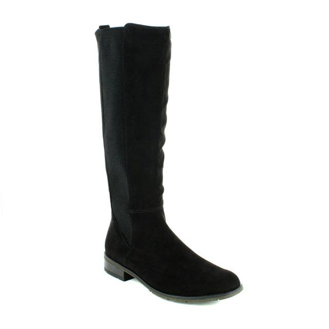 Marco Tozzi Rapalong 25528-001 Black suede long boots