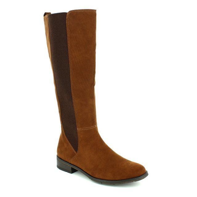 Marco Tozzi Knee-high Boots - Tan suede - 25528/892 RAPALONG