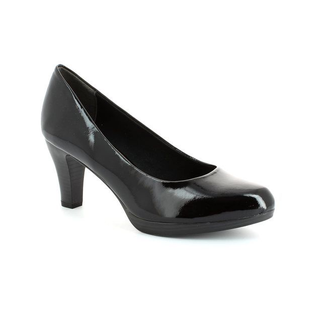 Marco Tozzi Senago 22409-001 Black patent high-heeled shoes