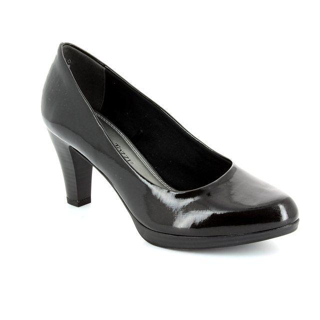 Marco Tozzi Senago 61 22409-001 Black patent high-heeled shoes