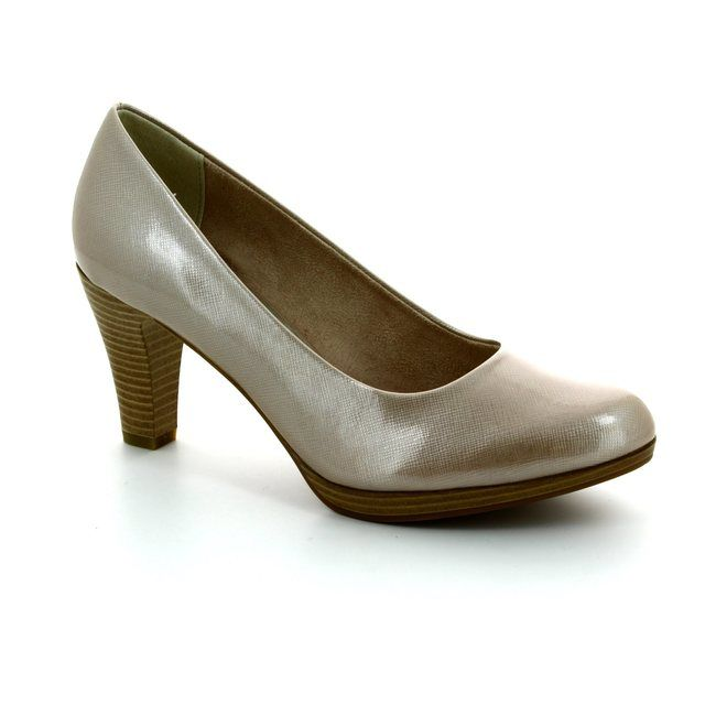 Marco Tozzi High-heeled Shoes - Beige patent - 22409/404 SENAGO 61