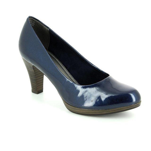Marco Tozzi High-heeled Shoes - Navy patent - 22409/805 SENAGO 61