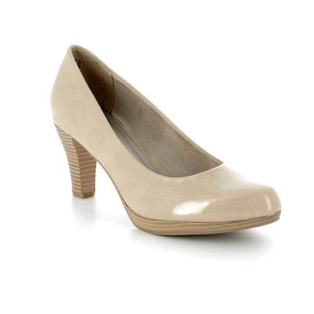 Marco Tozzi High-heeled Shoes - Beige patent - 22409/20/428 SENAGO 81