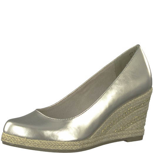 6bc6bcdf5d76 Clarks Sharon Crystal D Fit Pewter suede Wedge Shoes