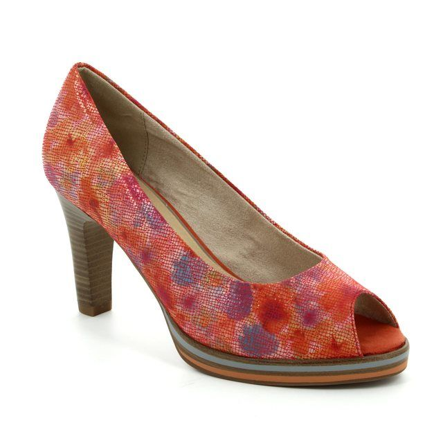 Marco Tozzi High-heeled Shoes - Coral - 29300/507 SIMALA