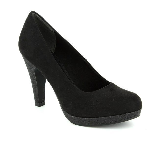 Marco Tozzi Taggispa 22441-098 Black suede high-heeled shoes