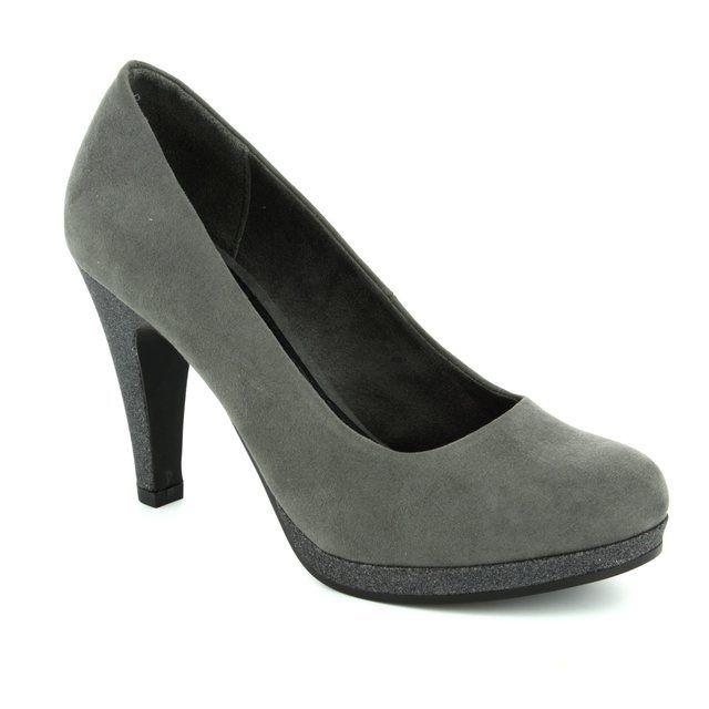 Marco Tozzi Taggispa 22441-225 Grey suede high-heeled shoes
