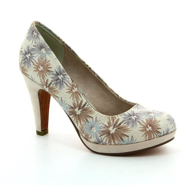 Marco Tozzi High-heeled Shoes - Floral print - 22441/449 TAGGISPA