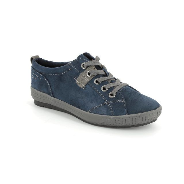 Marco Tozzi Zolla 23707-815 Navy suede lacing shoes