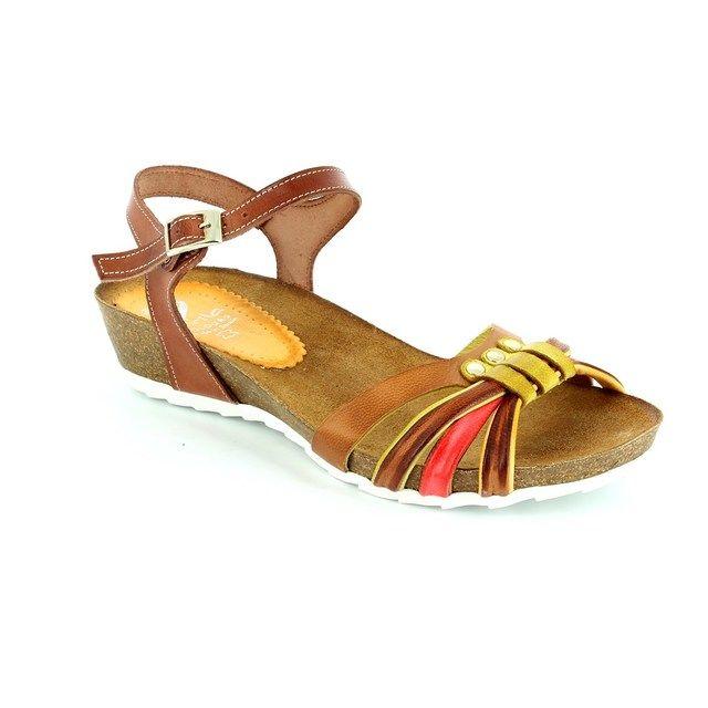 Marila Biocara 728b25 728 B25-10 Tan multi sandals