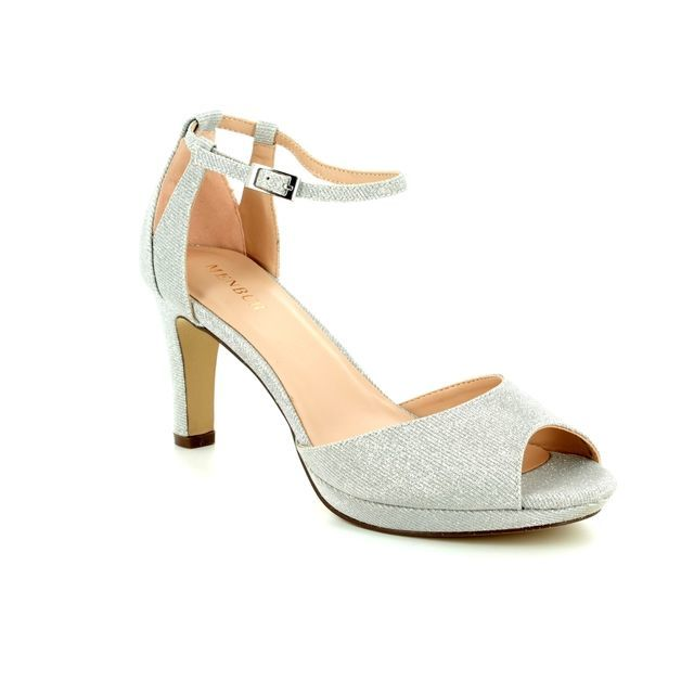 Menbur Heeled Sandals - Silver - 09491/09 BOSCO