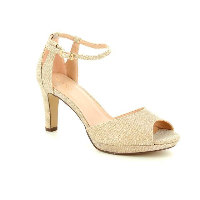 Menbur Heeled Sandals - Champagne beige - 09491/45 BOSCO