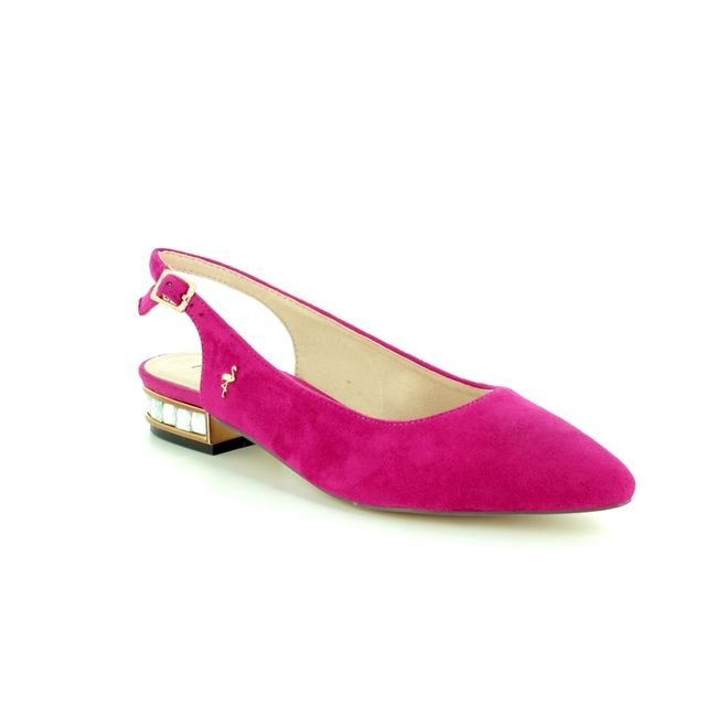 Menbur Heeled Shoes - Fuchsia Nubuck - 09571/18 CALAMIA