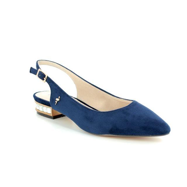Menbur Heeled Shoes - Navy nubuck - 09571/21 CALAMIA