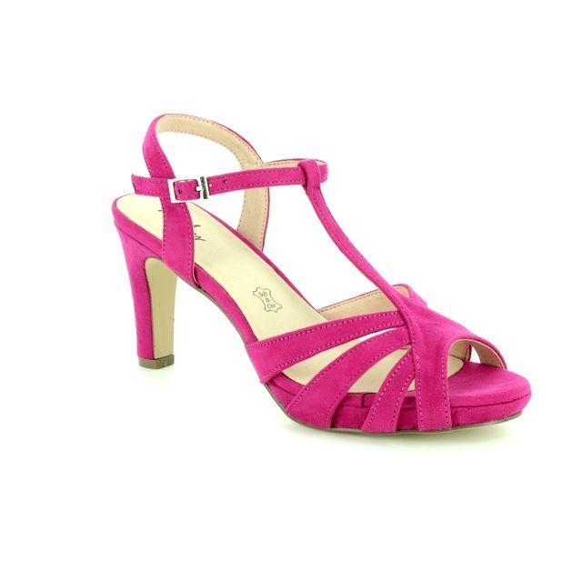 Menbur Heeled Sandals - Fuchsia Nubuck - 09553/18 CALDARO