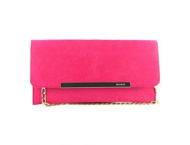 Menbur Caldaro Bag 84197-18 Fuchsia Nubuck matching handbag