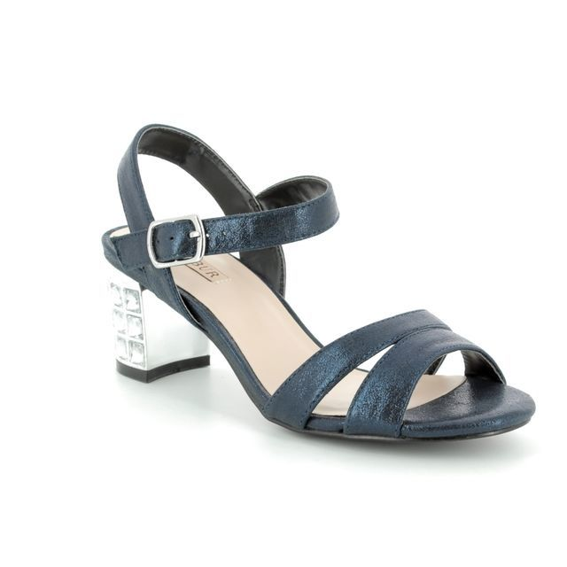 Menbur Heeled Sandals - Navy glitz - 07405/21 EVERAN