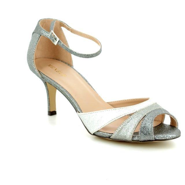 Menbur Heeled Sandals - Silver - 07932/09 LIRA