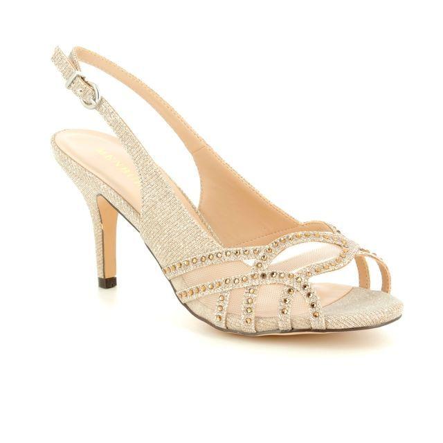 Menbur Heeled Sandals - Stone - 07532/87 PUERTO PRINCIP