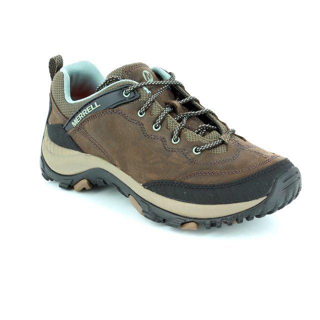 Merrell Salida Trekker J21418 Brown multi lacing shoes