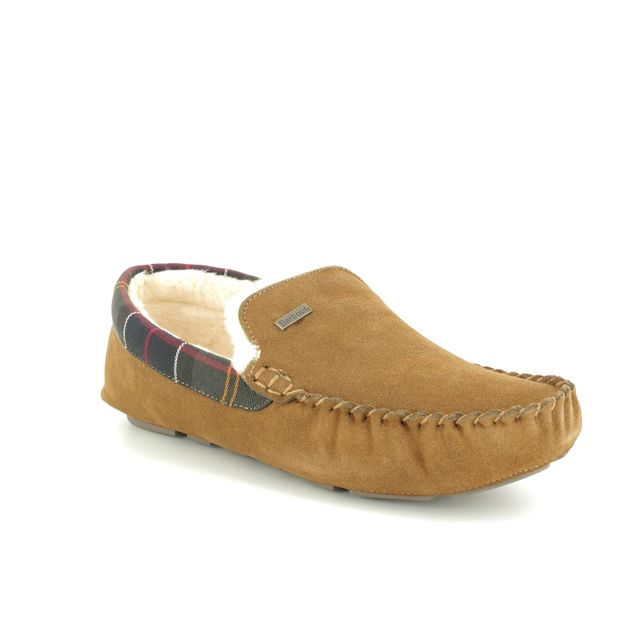 Barbour Slippers - Tan suede - MSL0001BE51 MONTY