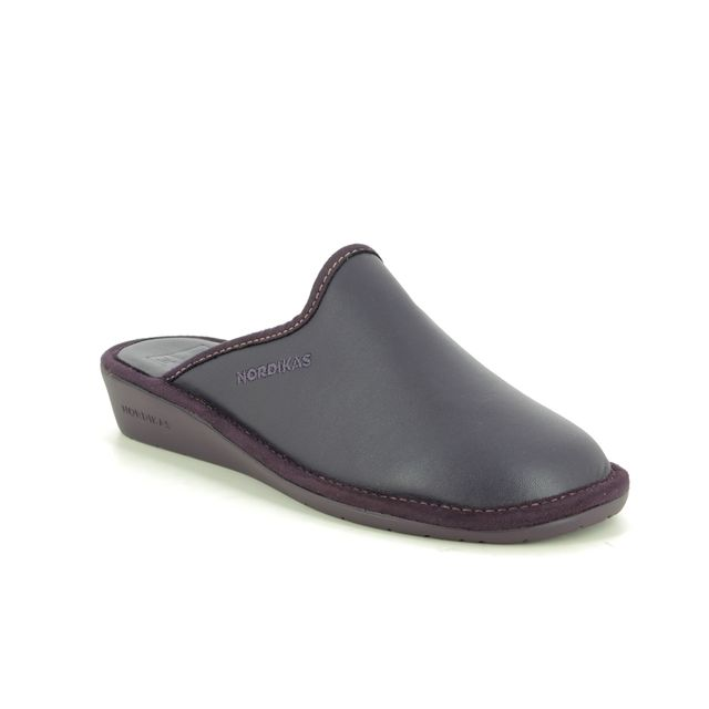 Nordikas Slippers - Purple Leather - 347/8 MULEA  95