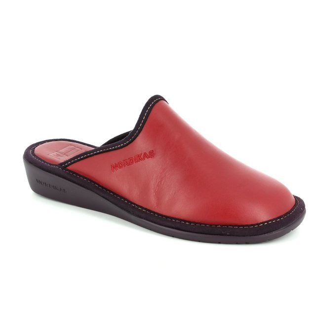 Nordikas Mulea New 0347-88 Red slipper mules