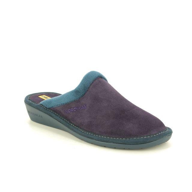 Nordikas Slippers - Purple suede - 234/8 MUSUE  95