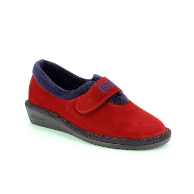 Nordikas Slippers - Red suede - 6348/4 NORVEL