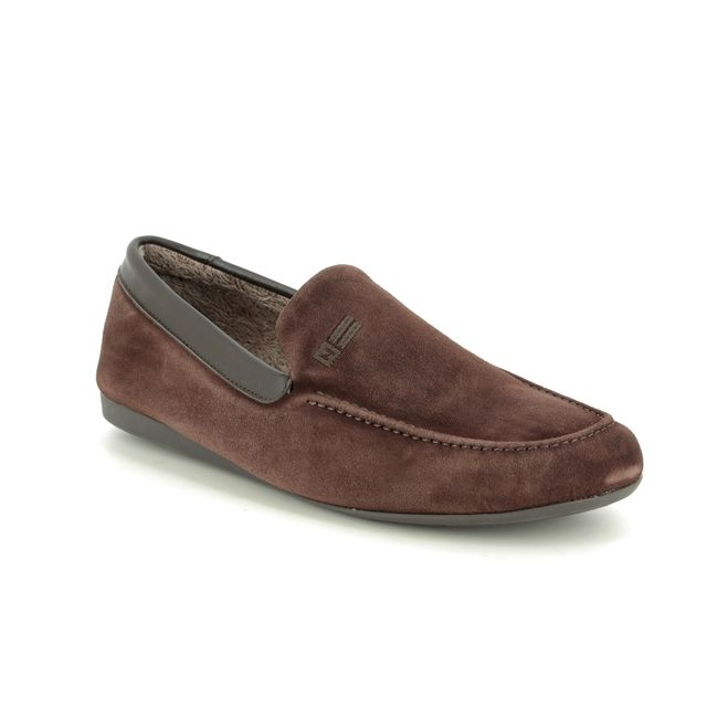 Nordikas Slippers - Brown Suede - 1390/ SLIPKAS