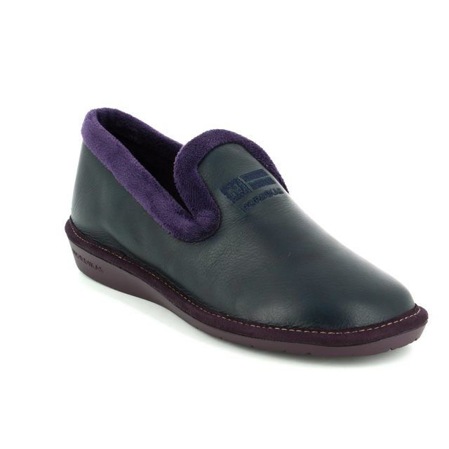 Nordikas Slippers - Navy Leather - 305/7 TABACKIN 72