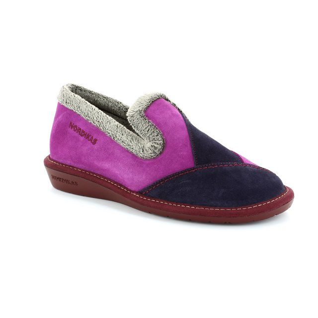 Nordikas Slipper Mules - Purple multi - 4508/4 TAPATCH 42
