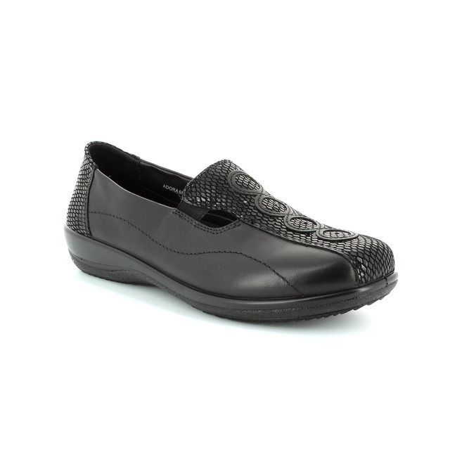 Padders Adora 653-38 Black croc comfort shoes