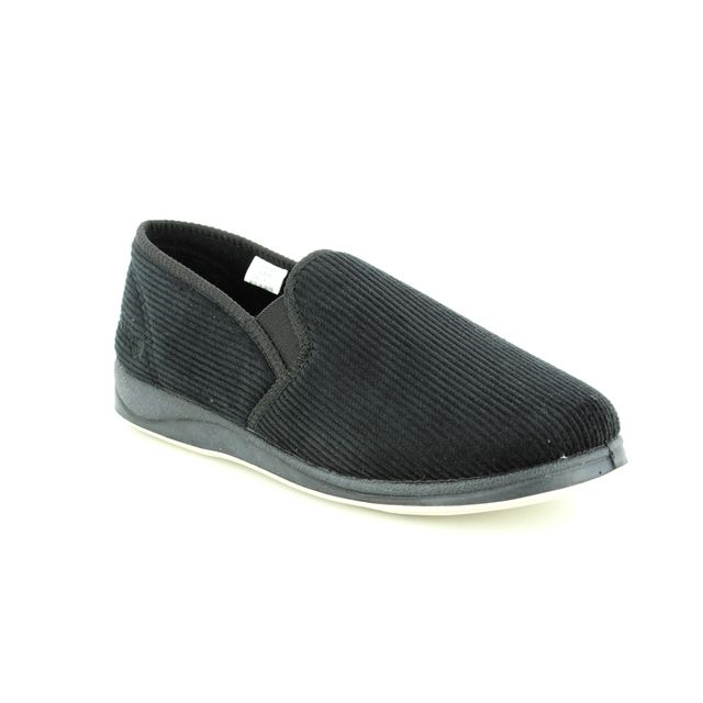Padders Slippers - Black - 408S/40 ALBERT G FIT