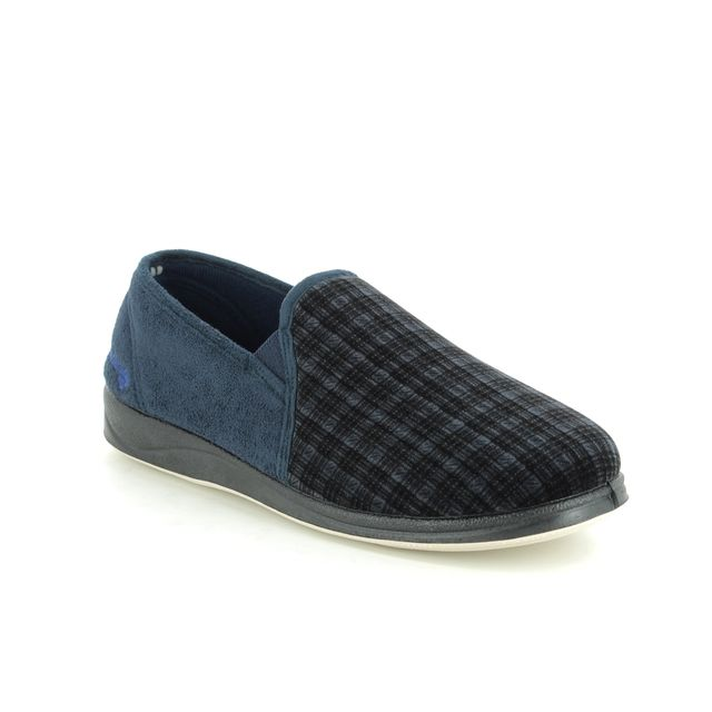 Padders Slippers - Navy Mmulti - 408S-96 ALBERT G FIT