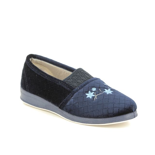 Padders Slippers - Navy - 4020-24 ANN    D FIT