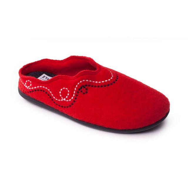 Padders Slippers - Dark Red - 406-42 ASPEN