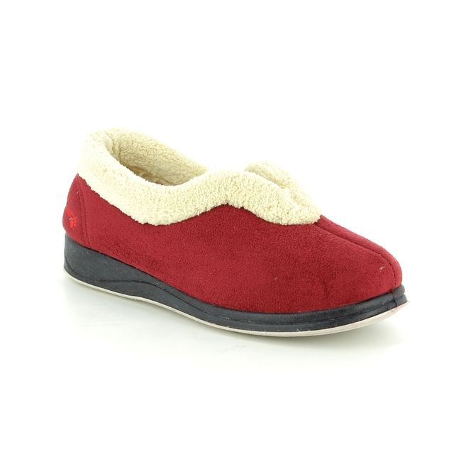 Padders Slippers - Red - 417/42 CARMEN 2E FIT