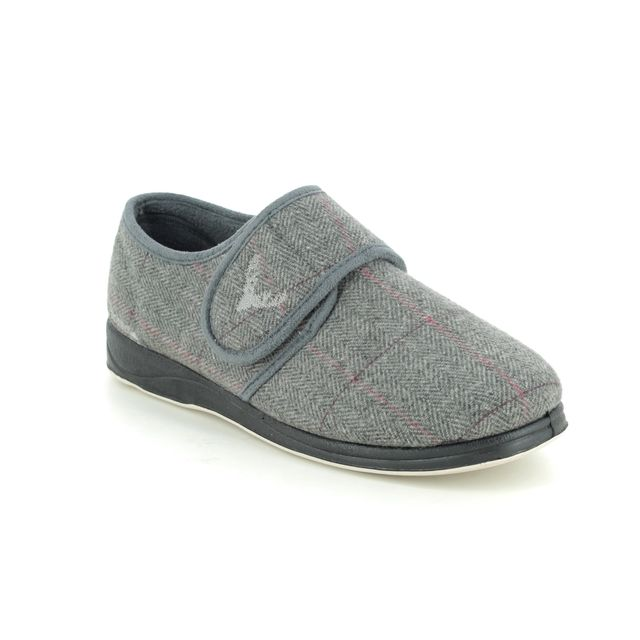 Padders Slippers - Grey - 411S-1207 CHARLES G FIT