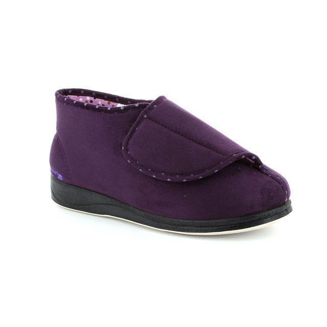 Padders Slippers - Purple - 449/95 CHERISH 2E FIT