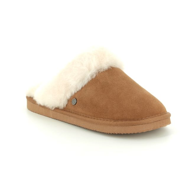 Padders Slipper Mules - Tan - 0434/22 COSY   EE FIT