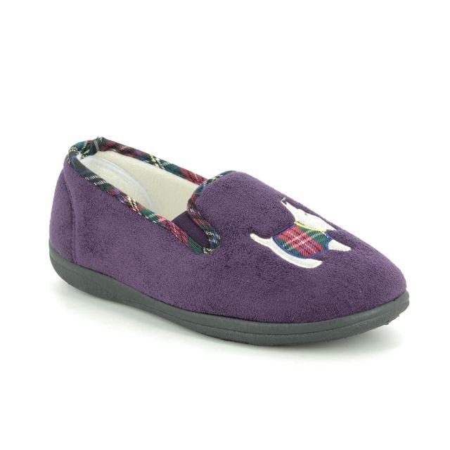 Padders Slippers - Purple - 4082-95 DANDIE EE-EEE