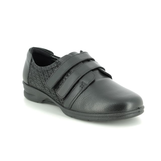 Padders Comfort Slip On Shoes - Black leather - 0362-38 DAYNA  4E-6E