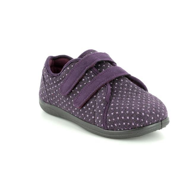 Padders Slippers - Purple multi - 0431/95 DUO    2E-3E