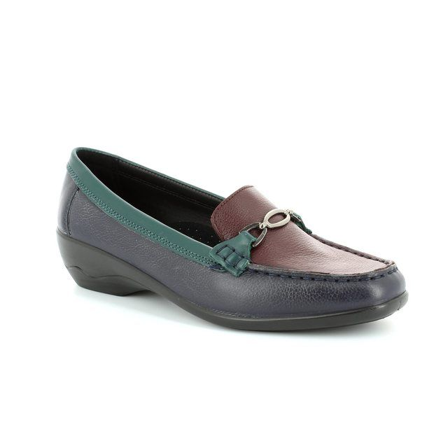 Padders Loafers - Navy/Green/wine - 279/27 ELLEN 2E FIT