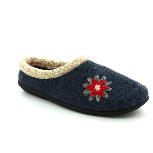 Padders Slippers - Navy multi - 4018/96 FREESIA 2E-3E FIT