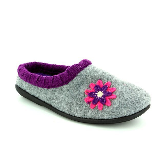 Padders Slippers - Grey multi - 4018/97 FREESIA 2E-3E FIT