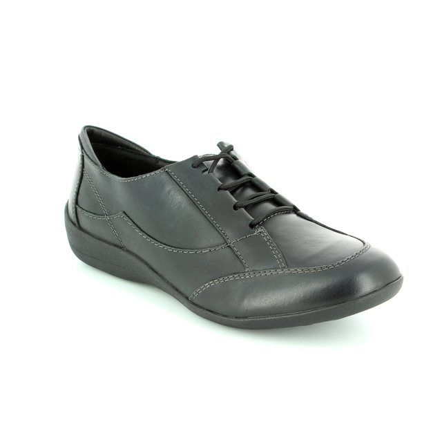 Padders Glade 2E Fit 050-10 Black lacing shoes